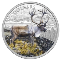 2014 Canada $20 The Caribou Fine Silver Colourized (TAX Exempt)