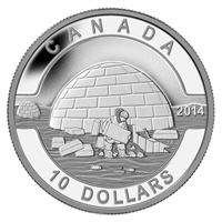 2014 $10 O Canada - The Igloo (#1) Fine Silver Coin (TAX Exempt)