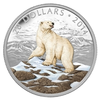 2014 Canada $20 Iconic Polar Bear Fine Silver Coin (TAX Exempt)