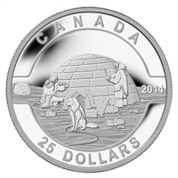2014 $25 O Canada - The Igloo Fine Silver (TAX Exempt) - 128990