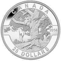 2014 $25 O Canada - Under The Maple Tree Fine Silver (No Tax)