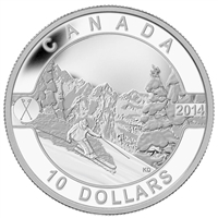 2014 $10 O Canada - Skiing Canada's Slopes Fine Silver (No Tax)