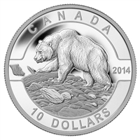 2014 $10 O Canada - Grizzly Bear Fine Silver (No Tax)