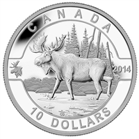 2014 $10 O Canada - Moose Fine Silver (No Tax)