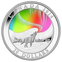 2014 Canada $20 A Story of the Northern Lights - Howling Wolf (No Tax)