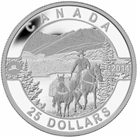 2014 $25 O Canada - Cowboy in the Canadian Rockies (TAX Exempt)