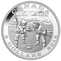 RDC 2014 Canada $5 Tradition of Hunting - The Seal Fine Silver (No Tax) impaired