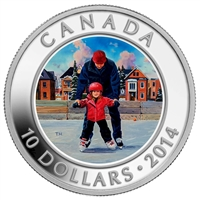 RDC 2014 Canada $10 Learning to Skate Fine Silver (No Tax) Impaired