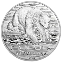 2014 Canada $50 Polar Bear ($50 for $50 #1) Fine Silver (No Tax)