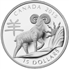 2015 Canada $15 Zodiac Year of the Sheep Fine Silver Coin (TAX Exempt)