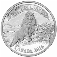 2014 Canada $5 Bank Notes: Lion on the Mountain Fine Silver (No Tax)