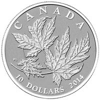 2014 Canada $10 Maple Leaf Fine Silver Coin (TAX Exempt)