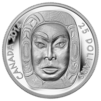 2014 Canada $25 Matriarch Moon Mask Fine Silver Coin (TAX Exempt)