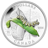 RDC 2014 Canada $3 Animal Architects - Caterpillar & Chrysalis (No Tax) Impaired