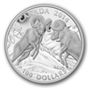 2014 Canada $100 Bighorn Sheep ($100 for $100) Fine Silver (TAX Exempt)