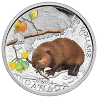 2014 Canada $20 Baby Animals - The Beaver (#1) Fine Silver (No Tax)