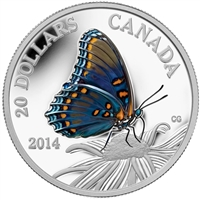 2014 $20 Butterflies of Canada - Red-Spotted Purple Fine Silver (No Tax)