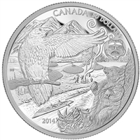 2014 Canada $50 The Legend of the Spirit Bear 5oz. Fine Silver (TAX Exempt)