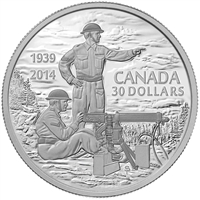 2014 Canada $30 75th Anniversary of the Declaration WWII (TAX Exempt)