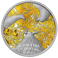 2014 Canada $20 Maple Canopy: Autumn Allure Fine Silver (No Tax)