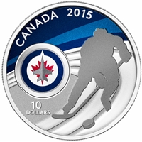 2015 Canada $10 Winnipeg Jets Fine Silver Coin (TAX Exempt)