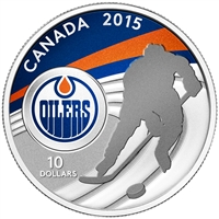 2015 Canada $10 Edmonton Oilers Fine Silver Coin (TAX Exempt) 130599