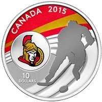 2015 Canada $10 Ottawa Senators Fine Silver Coin (TAX Exempt)
