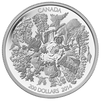 2014 Canada $200 Towering Forests 2oz. Fine Silver ($200 for $200 #1) No Tax