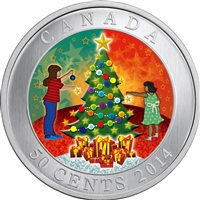 2014 Canada 50-cent Christmas Tree Cupronickel Lenticular Coin