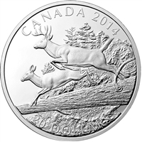 2014 Canada $20 The White Tailed Deer - Mates Fine Silver (No Tax)
