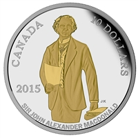 2015 Canada $10 Sir John A Macdonald's Birth Bicentennial (No Tax)