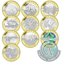 2014 $10 O Canada 10-coin Silver Set with Gold Plating (No Tax)