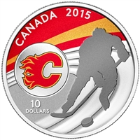 2015 Canada $10 Calgary Flames Fine Silver Coin (TAX Exempt)