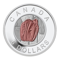 2014 $5 Flowers in Canada - Tulip Fine Silver & Niobium Coin (No Tax)