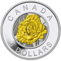 RDC 2014 $5 Flowers in Canada - Rose Silver and Niobium (No Tax) Scratched Capsule
