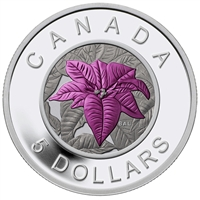 2014 $5 Flowers in Canada - Poinsettia Silver & Niobium Coin (No Tax)