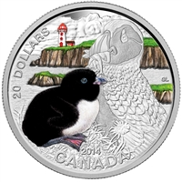 2014 Canada $20 Baby Animals - Atlantic Puffin Fine Silver (No Tax)