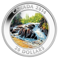 2014 Canada $20 River Rapids Fine Silver Coin (TAX Exempt)