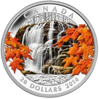 2014 Canada $20 Autumn Falls Fine Silver Coin (TAX Exempt)