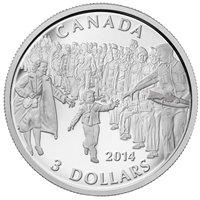 "2014 Canada $3 ""Wait for Me, Daddy"" Fine Silver (No Tax) 132619"