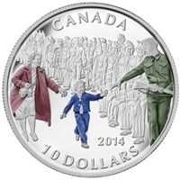 "2014 Canada $10 ""Wait for Me, Daddy"" Fine Silver Coloured (No Tax)"