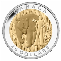 2014 Canada $20 Seven Sacred Teachings - Courage Fine Silver (No Tax)