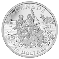 2014 $15 Exploring Canada - The Voyageurs Fine Silver (No Tax)