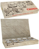 2014-2015 Canada $15 Exploring Canada Complete Set in Display (No Tax)