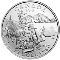 2014 $15 Exploring Canada - The Gold Rush Fine Silver (No Tax)