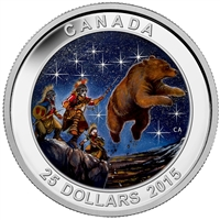 2015 Canada $25 Star Charts: Great Ascent (#3) Fine Silver (No Tax)
