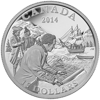 2014 $15 Exploring Canada - West Coast Exploration Fine Silver (TAX Exempt)