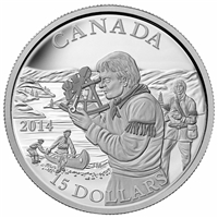 2014 $15 Exploring Canada - Pioneering Mapmakers Fine Silver (No Tax)