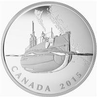 2015 $20 Canadian Home Front - First Submarines During WWI (No Tax)