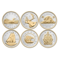 RDC 2015 Canada 5oz. Big Coin Series 6 Coin Set (TAX Exempt) Impaired